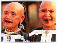 two women from the lahu sheleh hill tribe