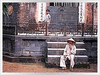old man and boy in vietnam