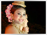 Thai woman during Loy Kratong festival