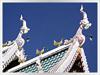 ornate temple roof in Chiang Mai, Thailand