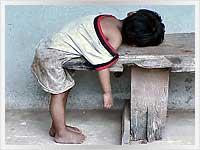 Laotian child sleeping