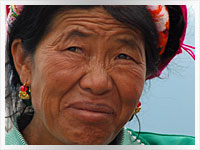bai woman in Yunnan Province, China
