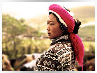 rural chinese woman in Yunnan Province, China