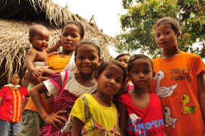 image of group-of-indigenous-children-in-the-village-malaysia