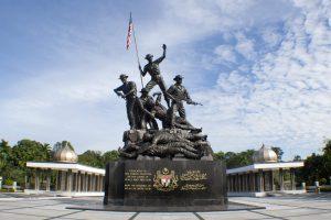 Image of the famous Malaysias Tugu Negara National Monument