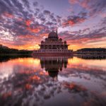 Image of sunrise-at-masjid-putra-putrajaya-malaysia